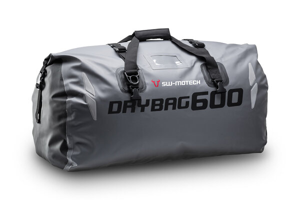 Drybag 600 tail bag 60 l. Grey/black. Waterproof.