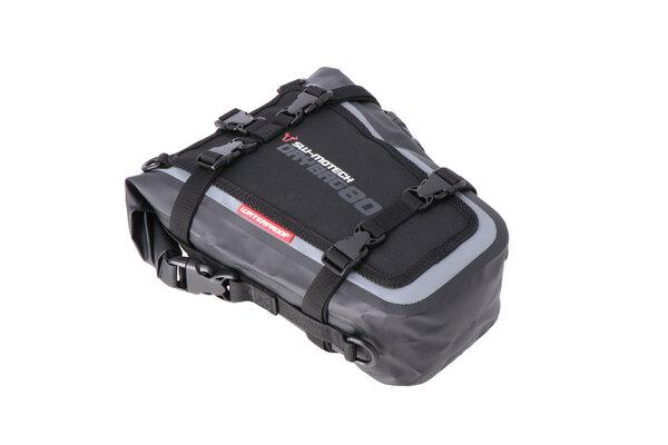 Borsa posteriore Drybag 80 8 l. Grigio/nero. Impermeabile.