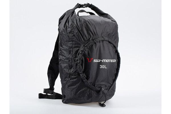 Flexpack backpack 30 l. Black. Water-resistant. Foldable.