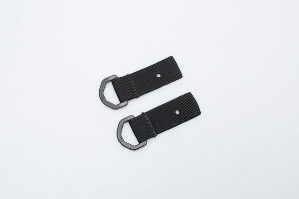 Occhielli per set fissaggio targa 2 anelli ancoraggio per borse posteriori.