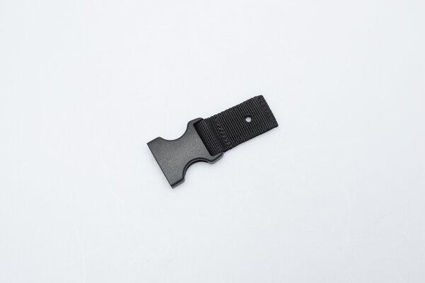 Female fastening buckle for BLAZE saddlebag  As replacement for BLAZE saddlebag. 25 mm.