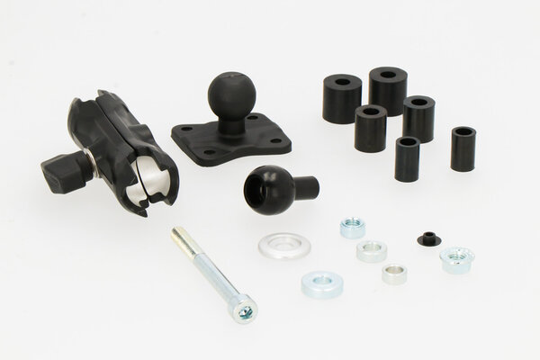 GPS mount with ball clamp for head tube For Ø12.5-25 mm. Incl. ball, socketarm, GPS mount.