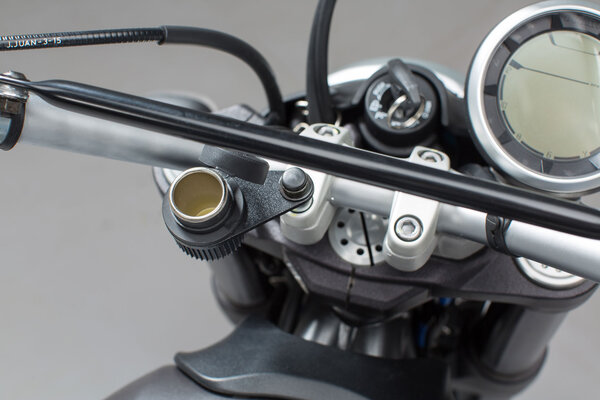 Cigarette lighter socket bracket M8 For handlebar mount with M8 screw.