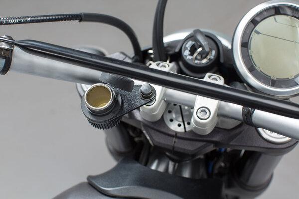 Cigarette lighter socket bracket M10 For handlebar mount with M10 screw.