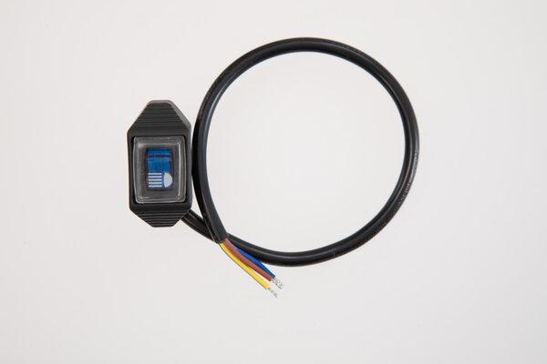 EVO Fernlicht-Schalter für Cockpit Für Fernscheinwerfer. Blau leuchtend.