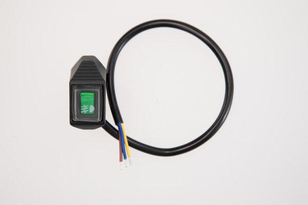 EVO fog light switch for cockpit For fog lights. Bright green.