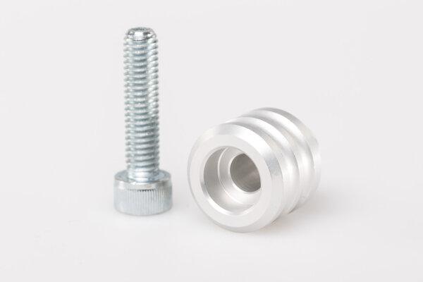 Extension de sélecteur de vitesse 15 mm d\'extension. Aluminium. Gris. Universel.