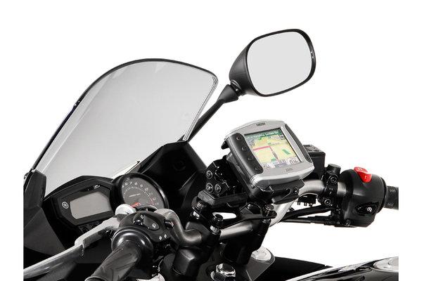 GPS mount for handlebar Black. Honda / Triumph / Yamaha models.