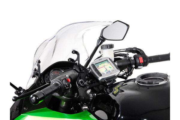 Navi-Halter am Lenker Schwarz. Kawasaki Z1000SX, Ninja 1000SX.