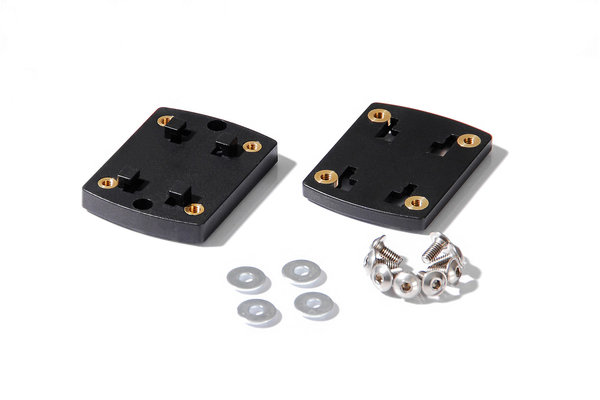 Clip-Adapter für Navi-Halter Adapterplatte. Richter-System. Schwarz.