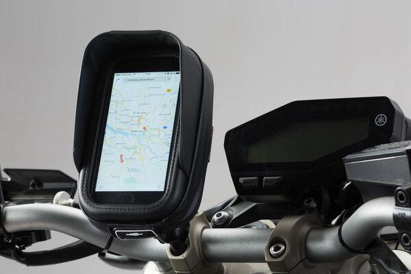 "Kit navigatore universale con Navi Case Pro S Inc. sfera 1"", brac. fiss., ins. navi, cust. navi."