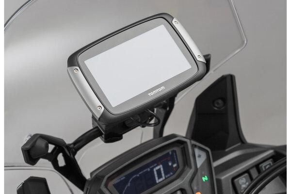 GPS mount for crossbar Ø 10/12 mm Black.
