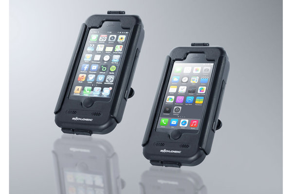 Hardcase für iPhone 5 / 5s, SE Für Navi-Halter. Spritzwassergeschützt. Schwarz.