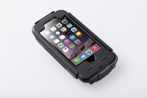 Hardcase für iPhone 6/6s Für Navi-Halter. Spritzwassergeschützt. Schwarz.