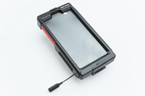Custodia rigida per iPhone 6/6s Plus Per supporto navigatore. Antispruzzi. Nero.