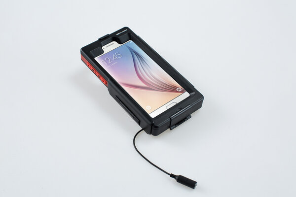 Hardcase für Samsung Galaxy S6 Für Navi-Halter. Spritzwassergeschützt. Schwarz.