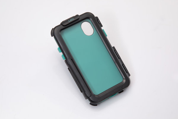Hardcase für iPhone X / XS Für Navi-Halter. Spritzwassergeschützt. Schwarz.