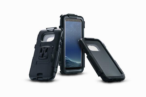 Hardcase für Samsung Galaxy S8 Plus Für Navi-Halter. Spritzwassergeschützt. Schwarz.