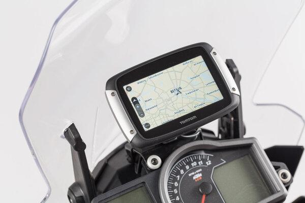 Soporte de GPS QUICK-LOCK Negro. KTM 1050/1090/1190 Adventure.
