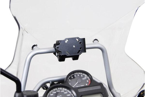 Navi-Halter an Rohr Ø 17 mm Schwarz glänzend.