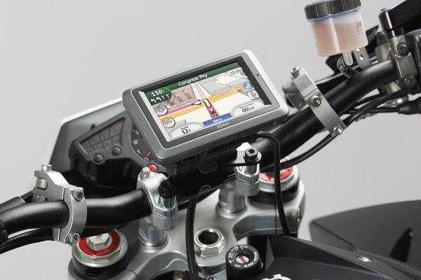 GPS mount for handlebar Black. Shock absorbent.