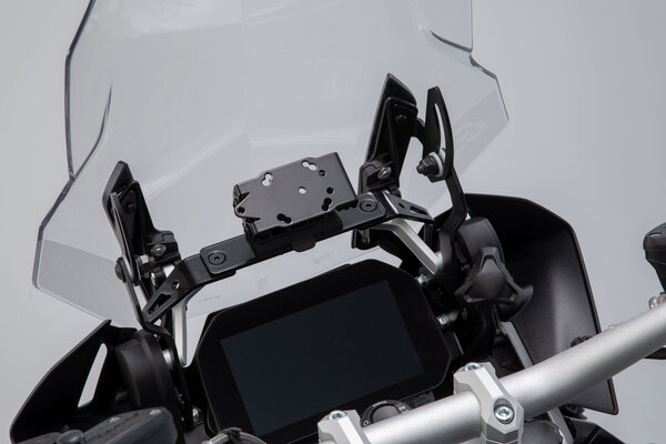 Navi-Halter im Cockpit Schwarz. BMW R1200GS (12-), R1250GS (18-).
