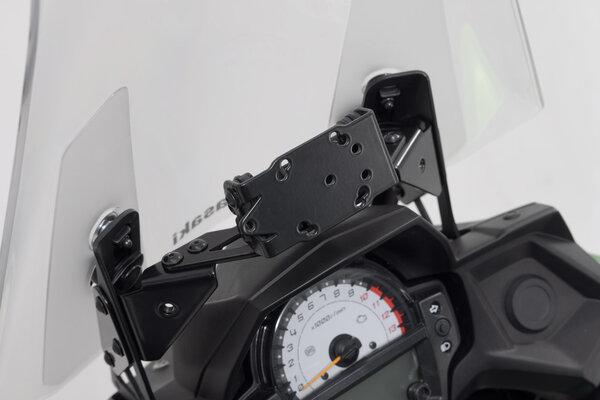 Navi-Halter im Cockpit Schwarz. Kawasaki Versys 650 (15-).