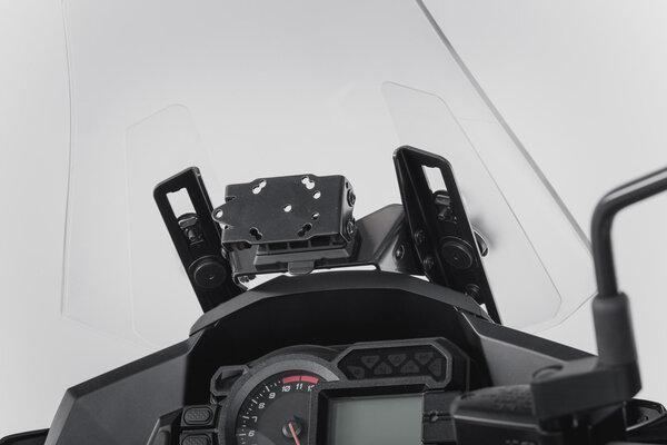 Support GPS pour cockpit Noir. Kawasaki Versys 1000 (15-17).