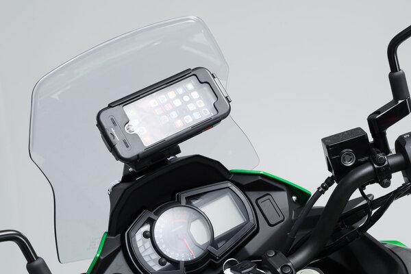 Supporto per GPS da cruscotto Nero. Kawasaki Versys-X 300 ABS (16-).