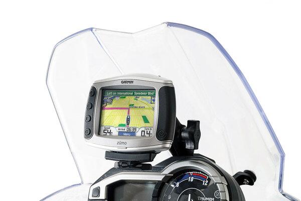 Support GPS pour cockpit Noir. Triumph Tiger 800/800 XC, XR (10-17).