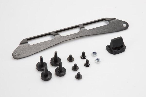 Kit d'adaptation pour porte-bagages ADVENTURE-RACK Noir. Pour Givi/Kappa Monolock.