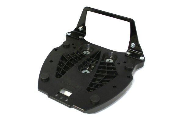 Adapterplatte für ALU-RACK Gepäckträger Für Hepco & Becker. Schwarz.