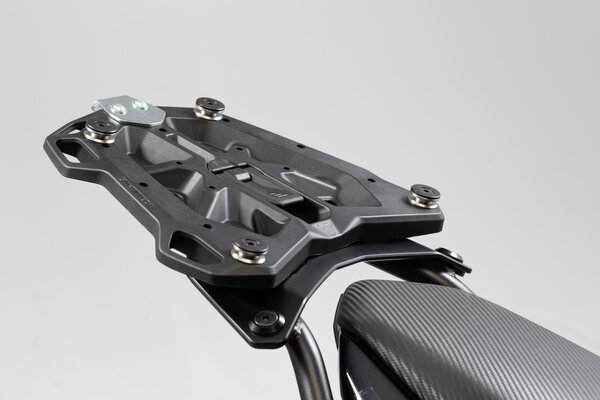 Adapter plate for STREET-RACK For TRAX topcase ADV/ION/EVO. Black.