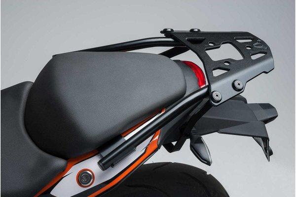 ALU-RACK Black. KTM 125 / 390 Duke (-16), 200 Duke (11-).