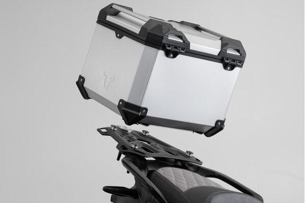 TRAX ADV Topcase-System Silbern. BMW G 310 GS (17-20).