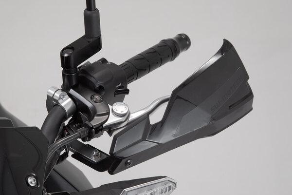 Kit de fijación de protectores de manos Negro. Manillares 22mm. 1 punto de anclaje.