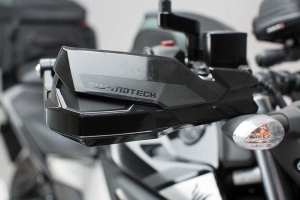 Kit de fijación de protectores de manos Negro. Soporte interior de manillar de 6mm / 8mm.