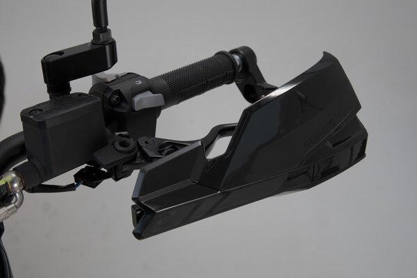Kit de fixation pour protège-mains Noir. Pour guidon creux de 22 mm (7/8 Inch).