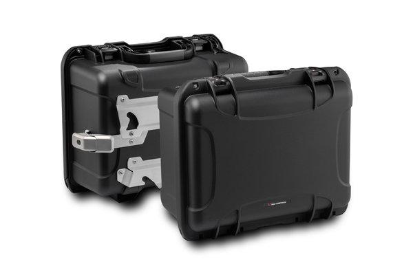 Kit de valises latérales NANUK Noir. Moto Guzzi V85 TT (19-).