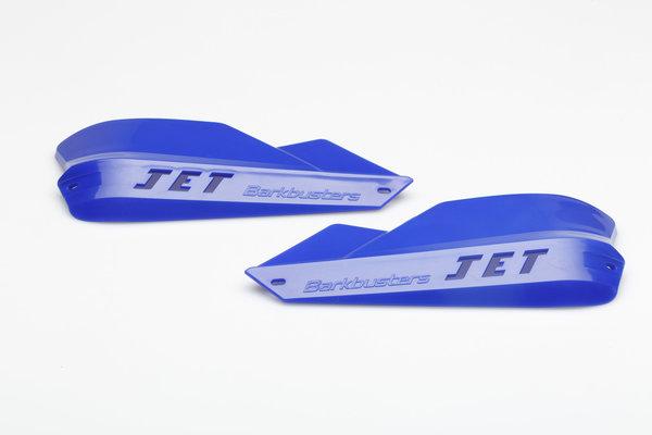 protège-mains Jet pour guidon de 22mm Bleu. Avec système de fixation.