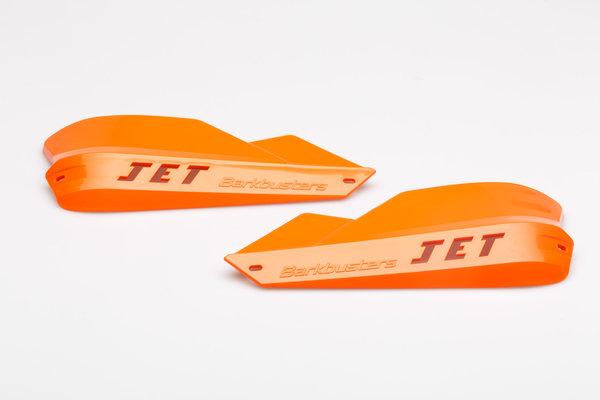 JET Handprotektor für konische Lenker Orange. Inklusive Anbaumaterial.