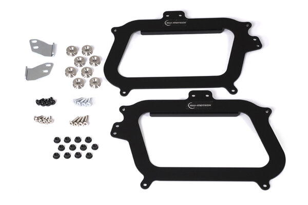 Kit adaptador para soportes originales GIVI Negro. Para maleta lateral TRAX. Por pares.