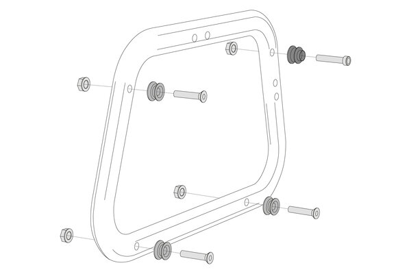 Adapter kit for EVO carrier 2 pcs. For AERO ABS side cases.