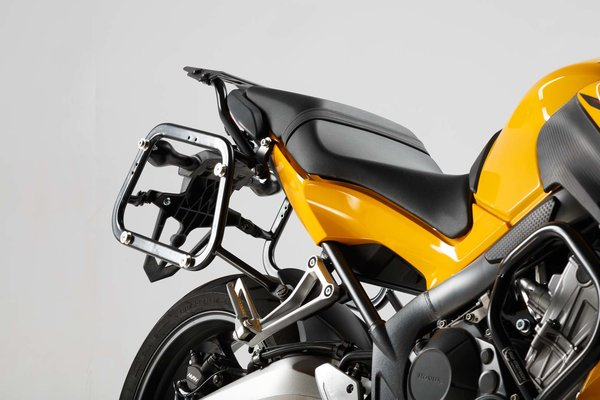 EVO side carriers Black. Honda CB650F (14-)/ CBR650F (13-).
