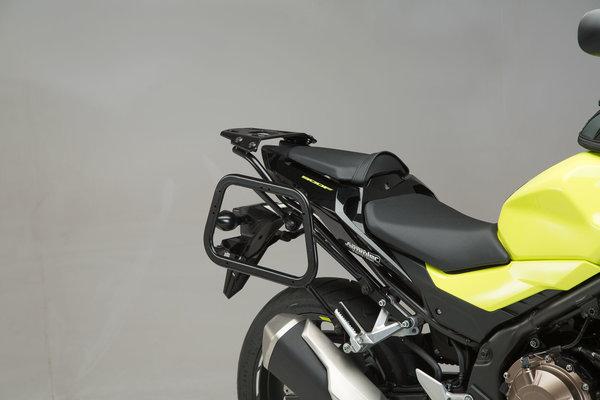 EVO Kofferträger Schwarz. Honda CB500F (-18) / CBR500R (16-).