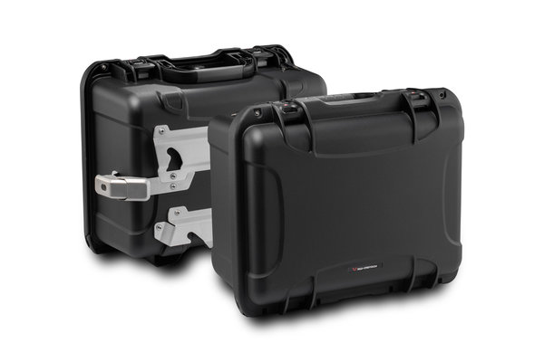 Sistema de maletas laterales NANUK Negro. BMW R1200GS (12-), R1250GS (18-).