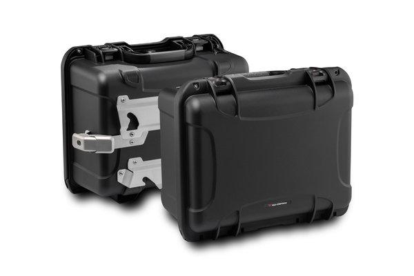 NANUK side case system Black. Suzuki DL 1000 V-Strom / Kawasaki KLV1000.