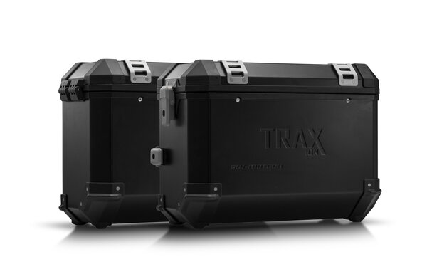 TRAX ION aluminium case system Black. 37/37 l. Honda NC 750X / 750S (16-).