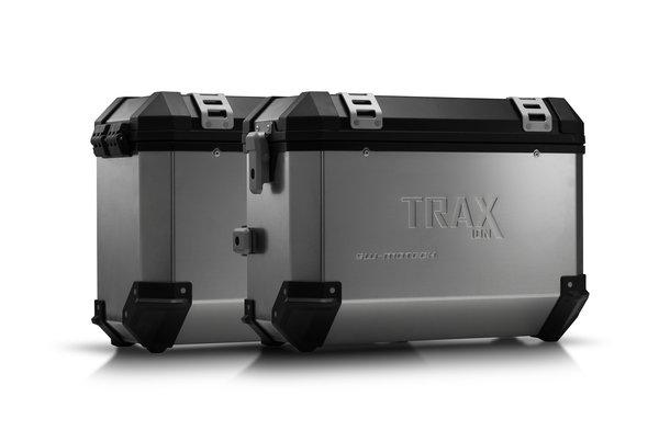 TRAX ION Alukoffer-System Silbern. 37/37 l. Kawasaki Versys 650 (07-14).