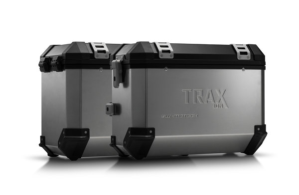 TRAX ION Alukoffer-System Silbern. 37/45 l. BMW F 800 R (09-)/F 800GT (12-).